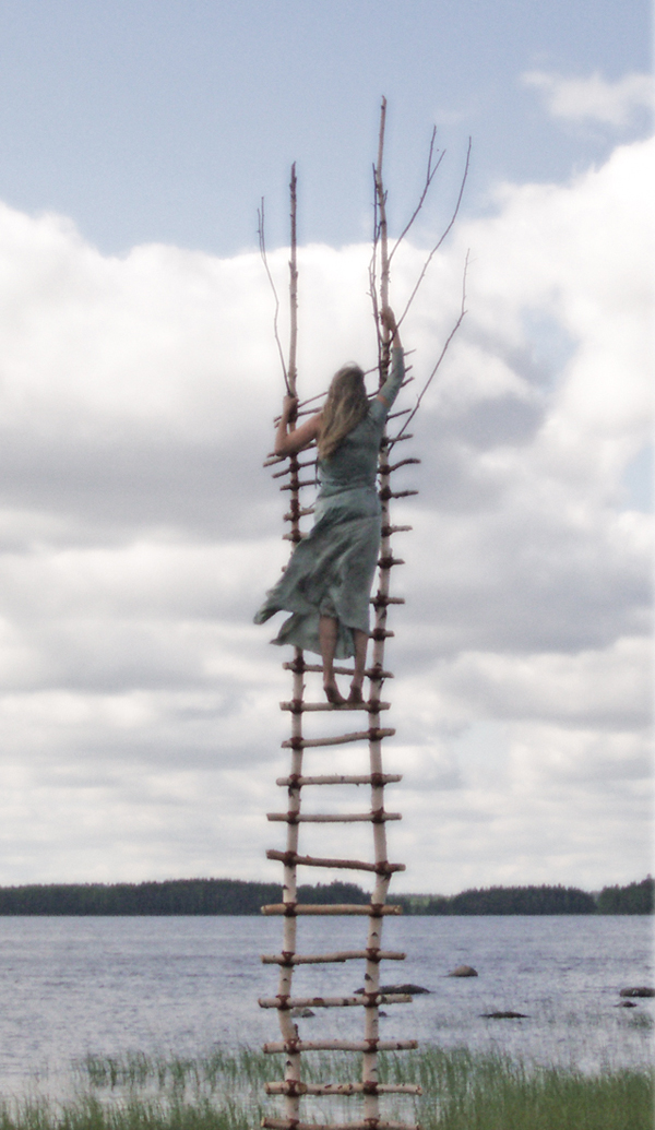 """At the Pole of Heaven"", Video-performance, outdoor installation, Ilomantsi, Finland, 2008. HD Video, 2012. Still image. Photo: Papu Pirtola"