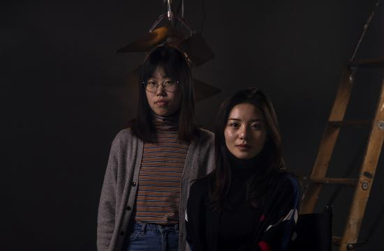 Senior film studies major Fanxi Sun of Zhejiang, China, and senior digital storytelling major Roxanne of Wan Weishan, China, realized their big-screen dreams at Mizzou. Photo by Michael Cali